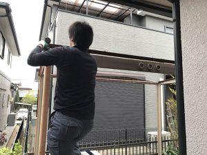 神戸市須磨区で物置の解体撤去作業